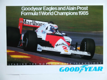 McLAREN TAG TURBO Alain Prost 1985 F1 World Champion GOOD YEAR poster 23x16""